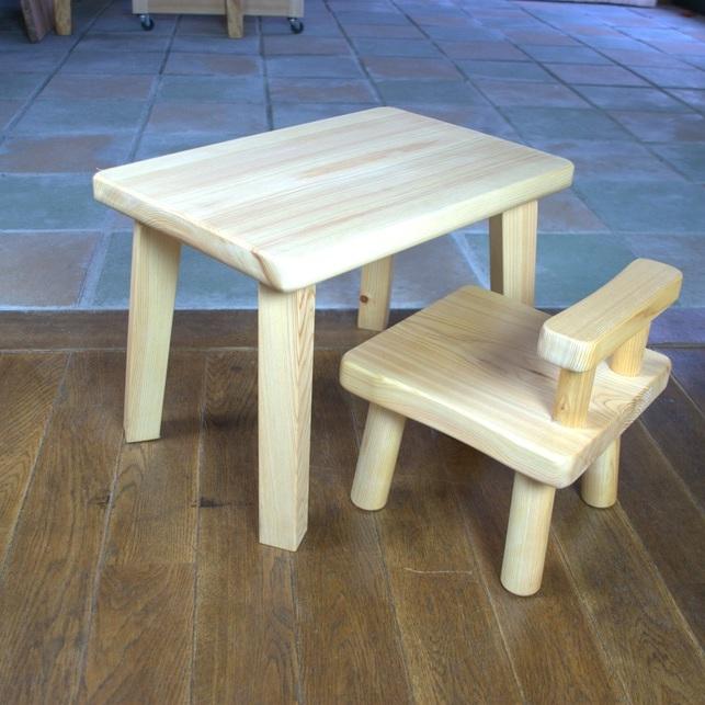 ひのきの子供ミニテーブル・椅子セット